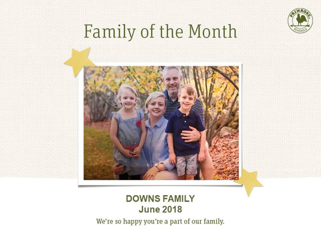 downs june family of the month