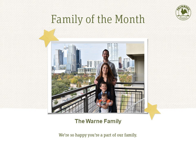 Family Of The Month Warne