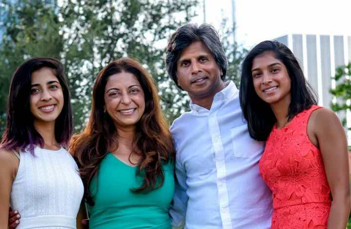 Franchise Owners of Primrose School Dr. Pratiksha Rigley and Dr. Noel Rigley with their family