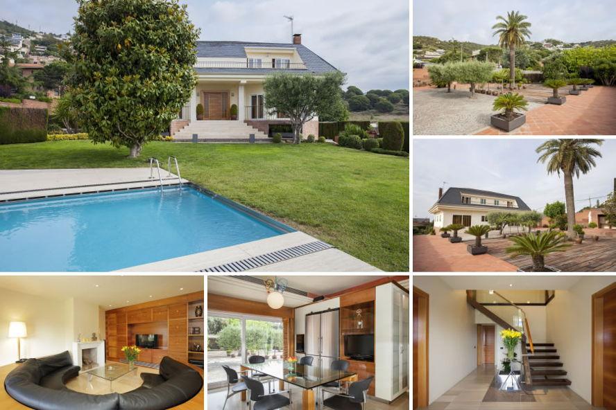 Casas con piscina y vistas en badalona - Casa jardin badalona ...