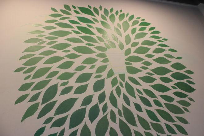 Tea Leaf acrylic