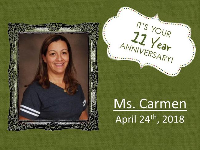Carmen's Anniversary
