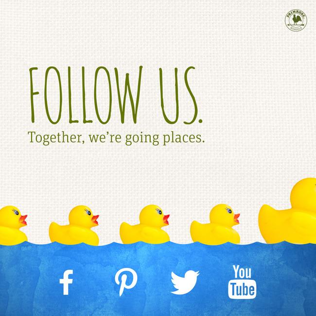 Follow us on social media poster