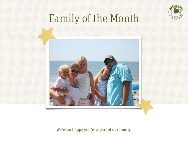 The Power family, family of the month