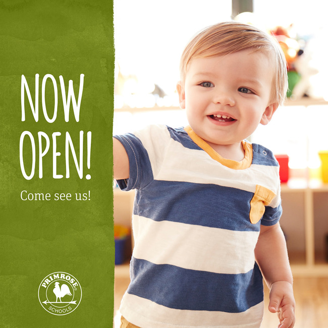 now open marketing image of an infant