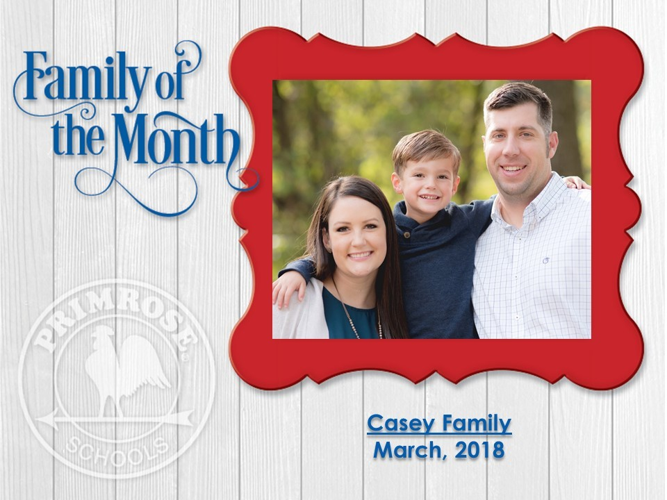 Family of the Month, the Casey Family