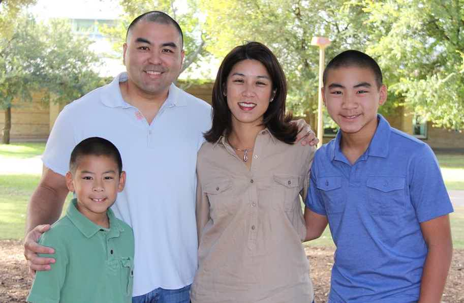 Franchise Owners of Primrose School Tom and Priscilla Chow with their family