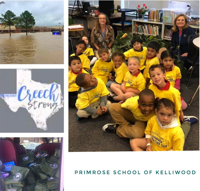 Books donated to flooded Elementary School in Katy Texas