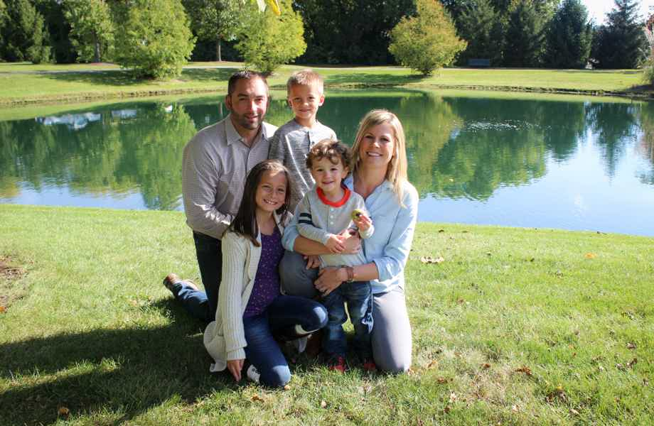 Franchise Owners of Primrose School Ashley and Luke Clemens with their family