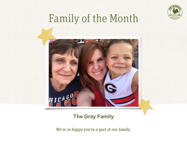 Our Family of the Month this November!