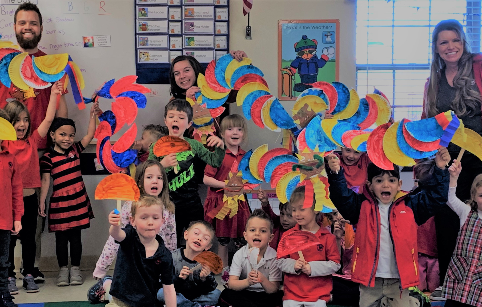 Primrose School of Littleton CHildren celebrate Year of the pic with Dragons