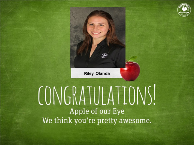 January Apple of Our Eye Riley Olanda
