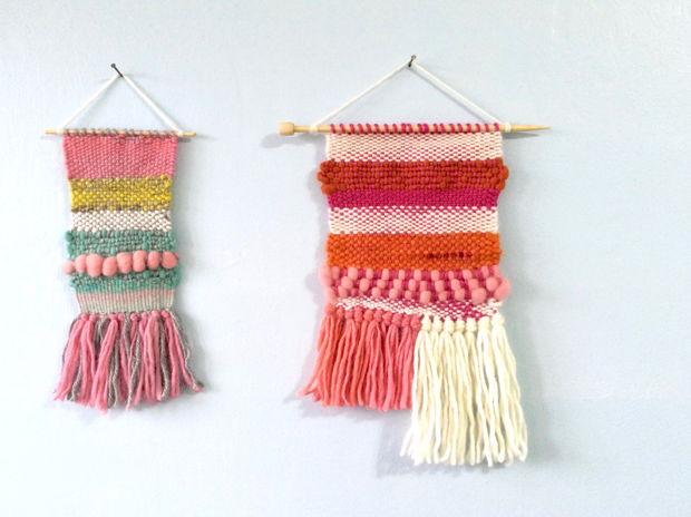 手織り壁かけ #1 & #2