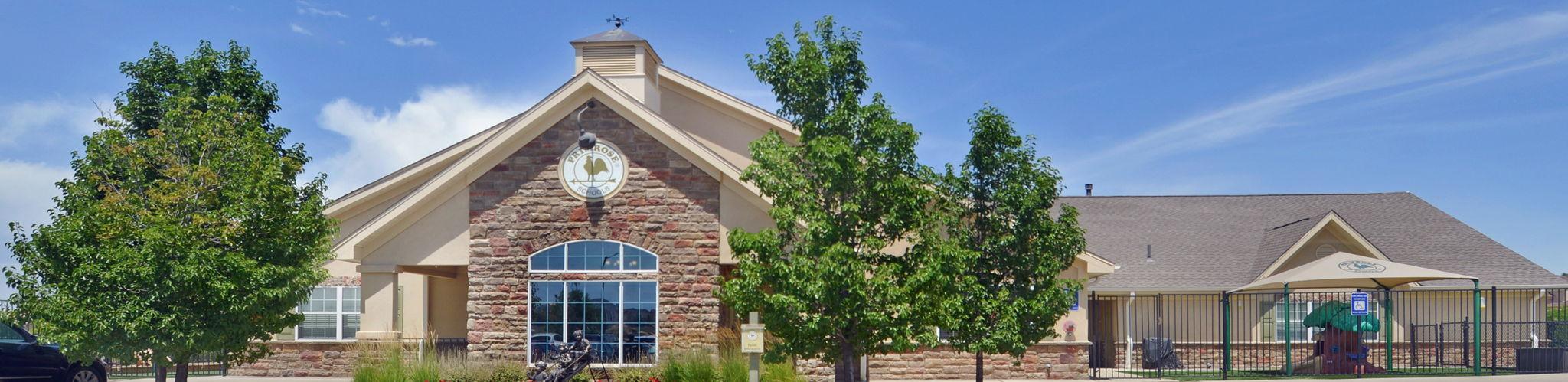 Exterior of a Primrose School of Erie at Vista Ridge