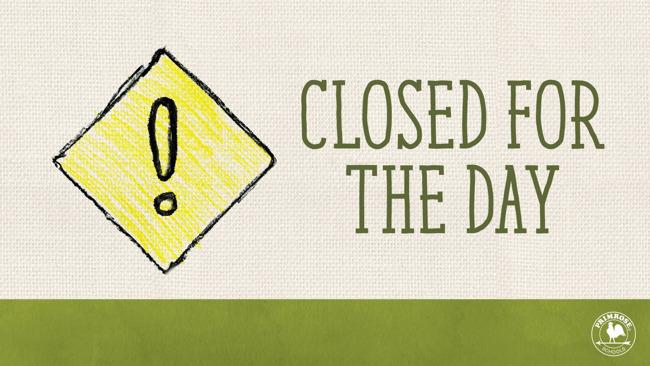 School Closed, 1/17/2018