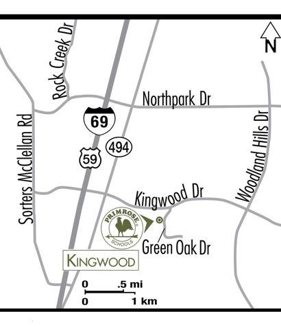 map Kingwood Texas Primrose School of Kingwood