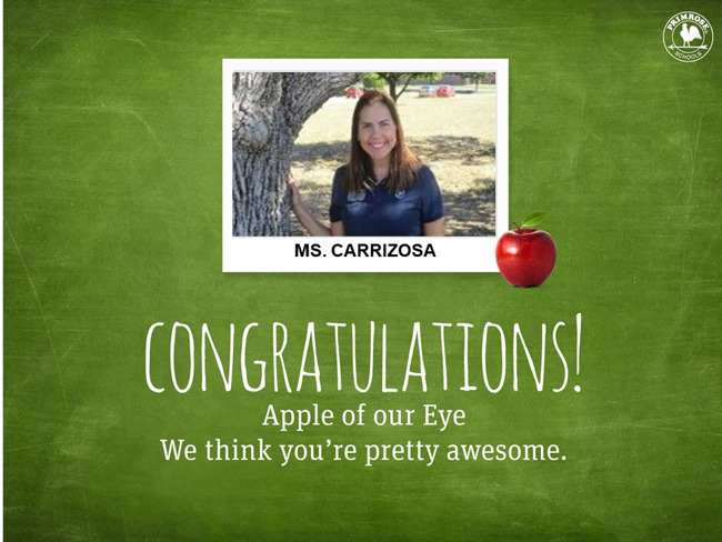 Congratulations on being our April Apple of our Eye!