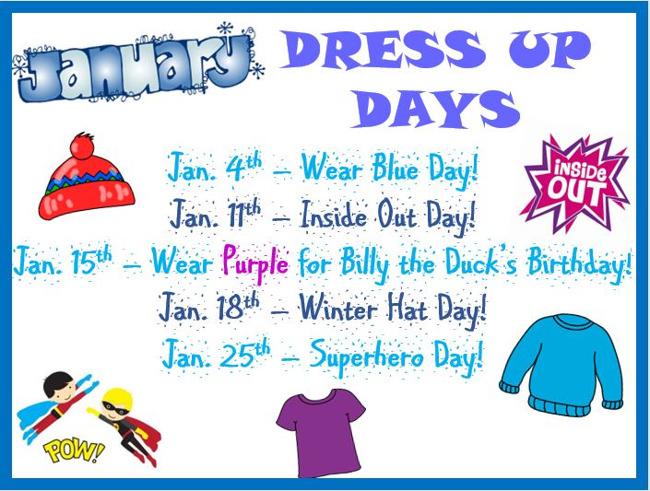 January Dress Up Days