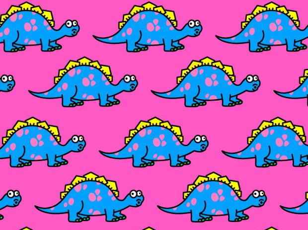 ステゴサウルス柄