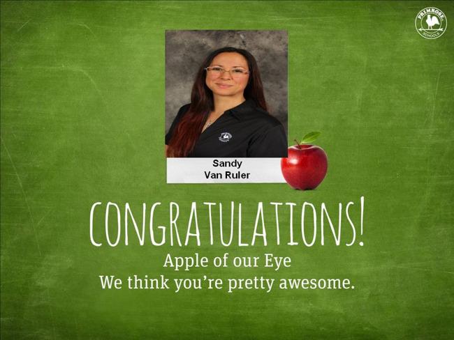 Sandy Van Ruler, May Apple of Our Eye