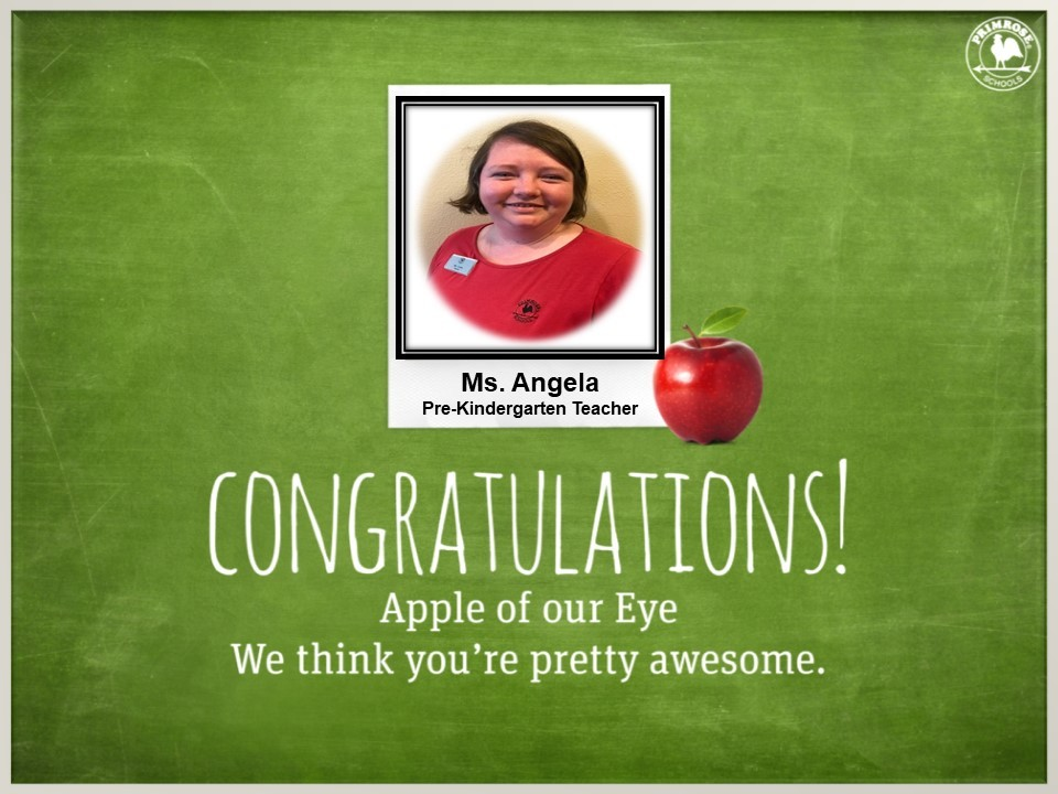 primrose schools apple teacher award dedication