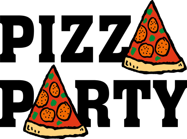 Pizza party poster