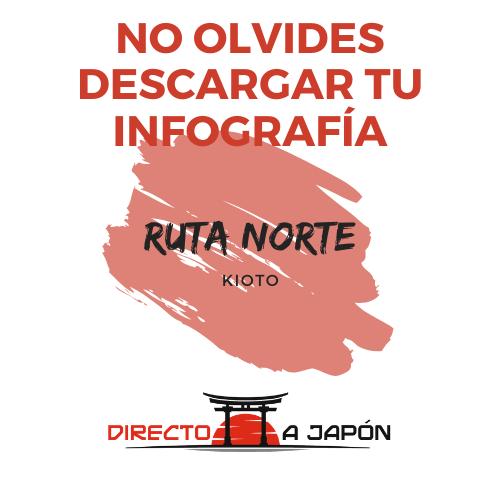 """Infografía ruta norte Kioto """"Directo a Japón"""""""