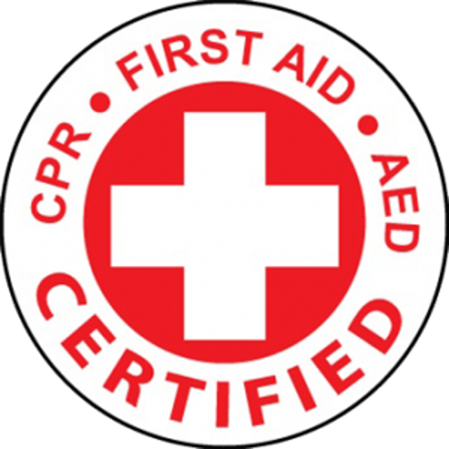 CPR/FIRST AID/AED certified logo
