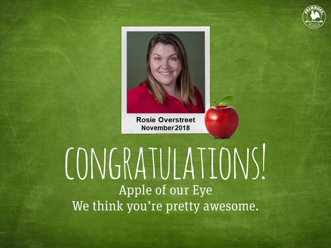 rosie overstreet november apple of our eye