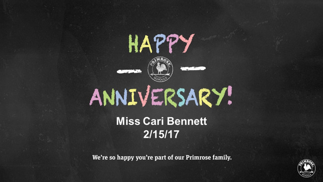 Happy 1 Year Anniversary Miss Bennett