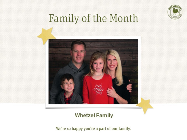 The Whetzel Family; Family of the Month!