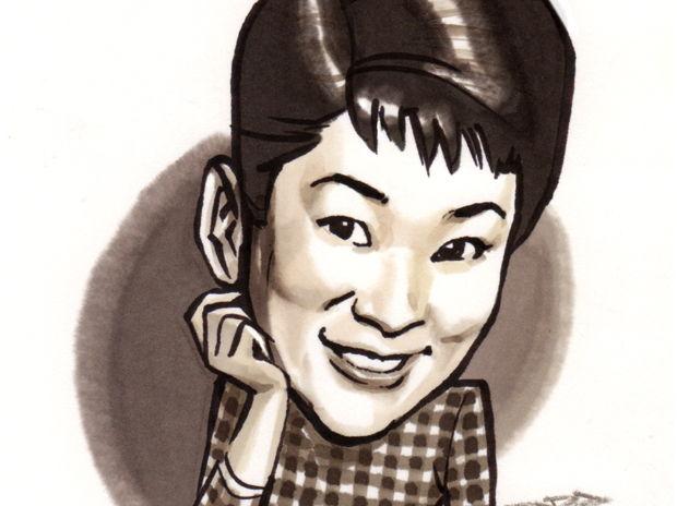 ナンシー梅木(Miyoshi Umeki)の似顔絵
