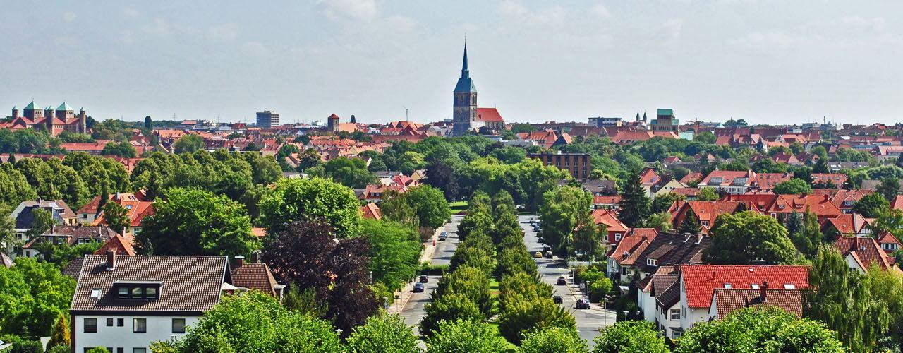 Blick über Hildesheim-Mittelallee