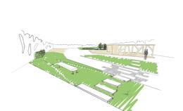 Концептуальный проект благоустройства дворового пространсва и крыши гаража.
