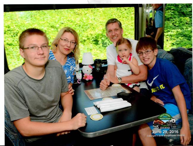 family photo of the Johnson family