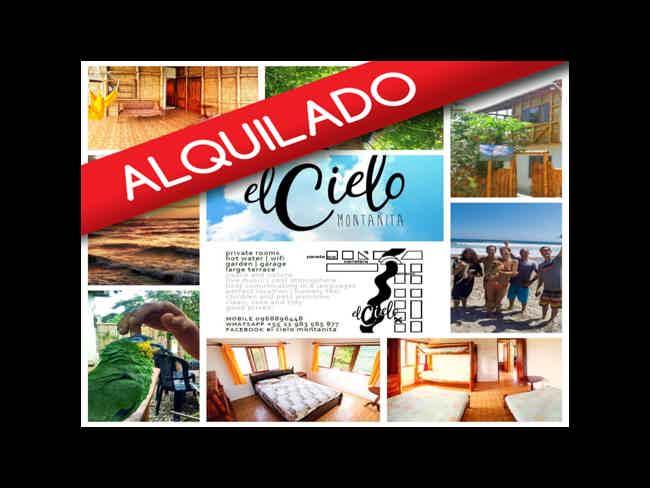 ALQUILADO !!      Hermoso Terreno + Hostal  ' En Venta o Alquiler !!'-Montañita