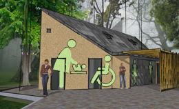 Общественный туалет в парке