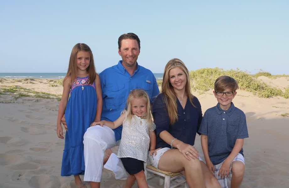 Franchise Owners of Primrose School Christy and Jared Black with family