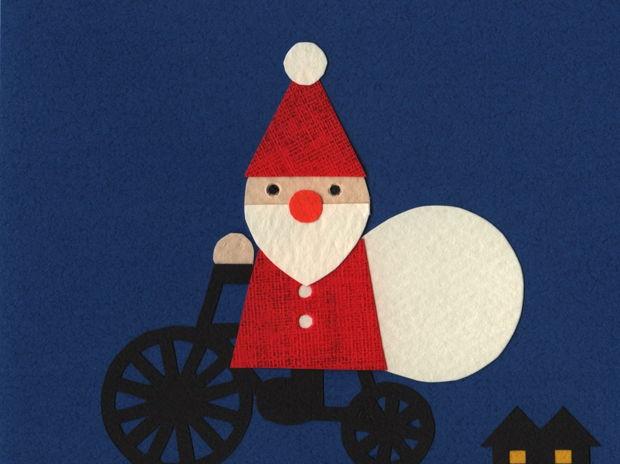 自転車サンタさん