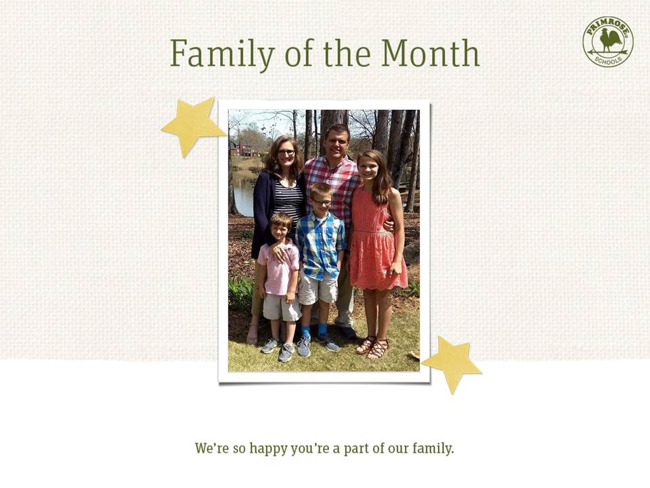 Family of the Month, a Trusted Partnership