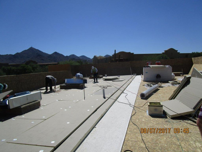 Construction material being prepared for the Primrose school of North Scottsdale