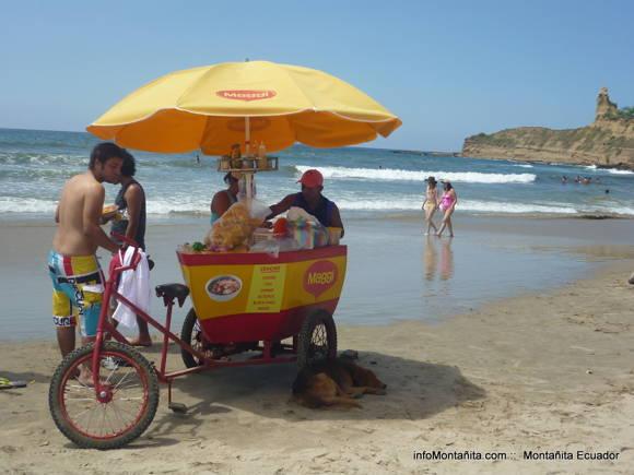 Ceviche en la playa de Montanita