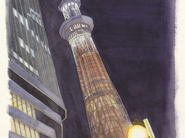あの夜の東京スカイツリー