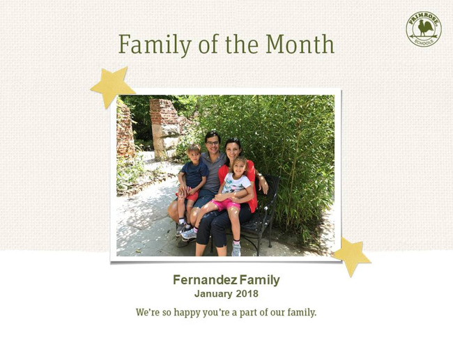january family of the month fernandez