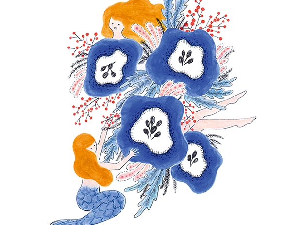 Bouquet of mermaid.