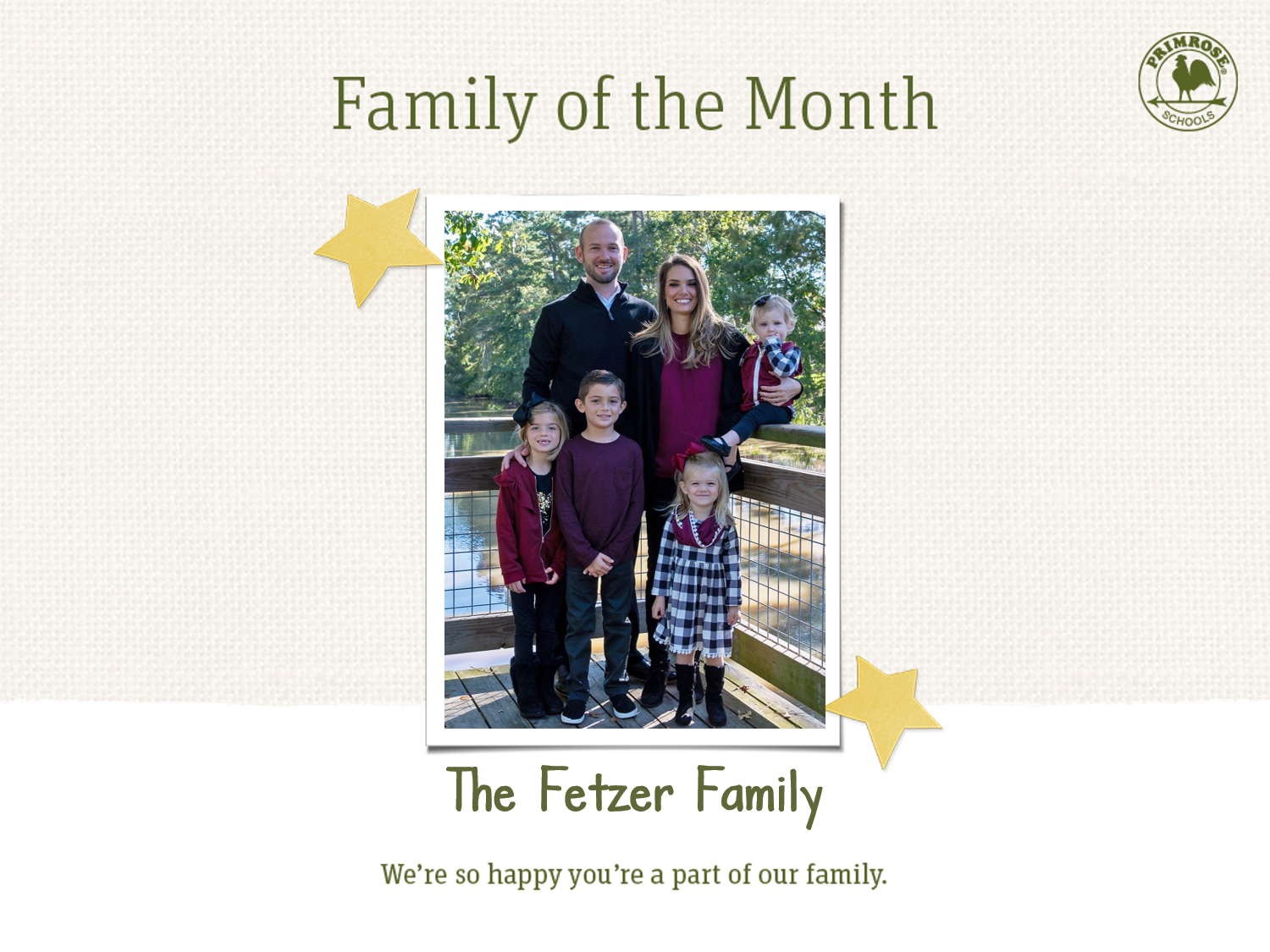 Family of the Month, March 2019 Fetzer Family