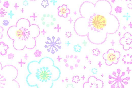 ポストカード:花模様