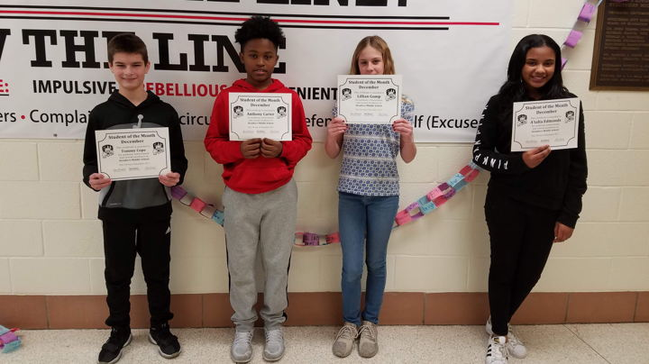 SMS December Students of the Month