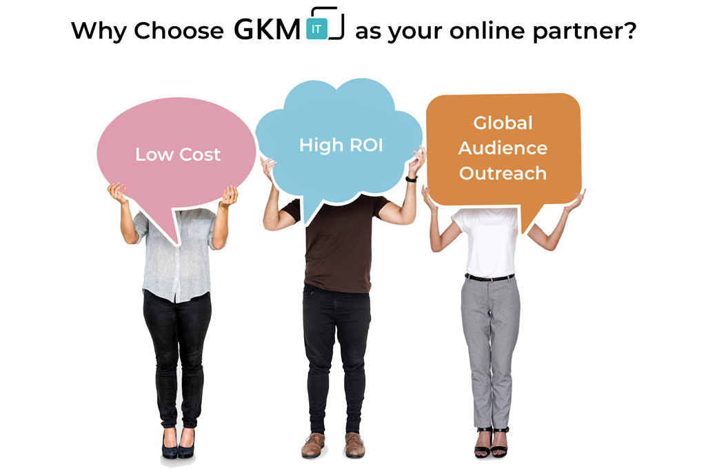 online presence-digital marketing service provider in India- gkmit