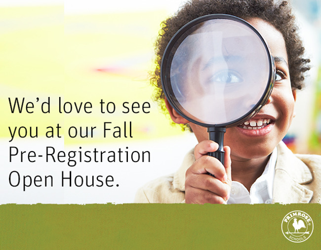 Fall Pre Registration Open House